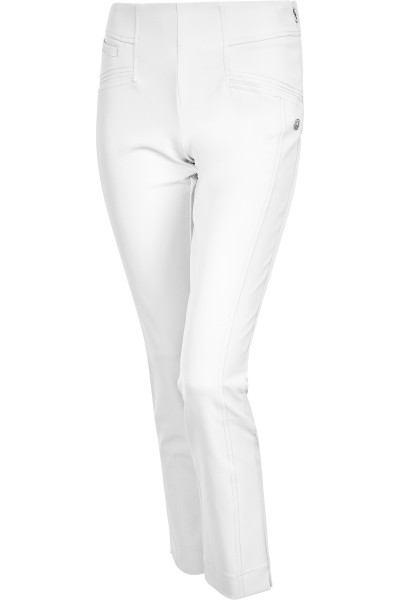 Figure-hugging trousers with stitching