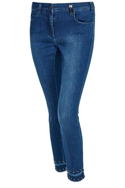 Jeans with rivet trim