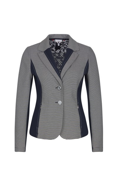 Blazer with lace insert