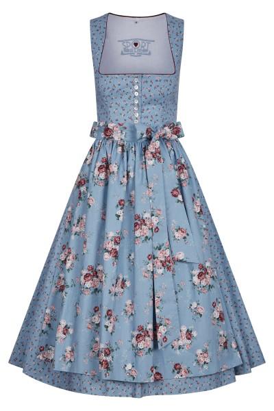 Kleid im nostalgischen Rosendruck