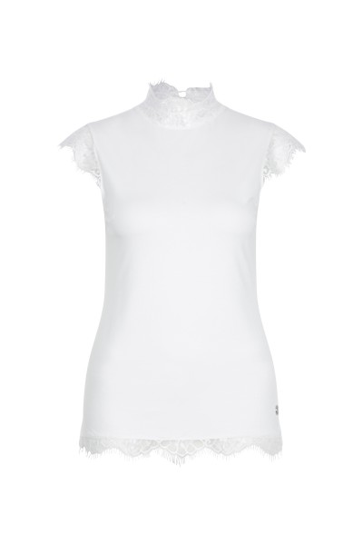 Romantisches Shirt mit Spitzendetail