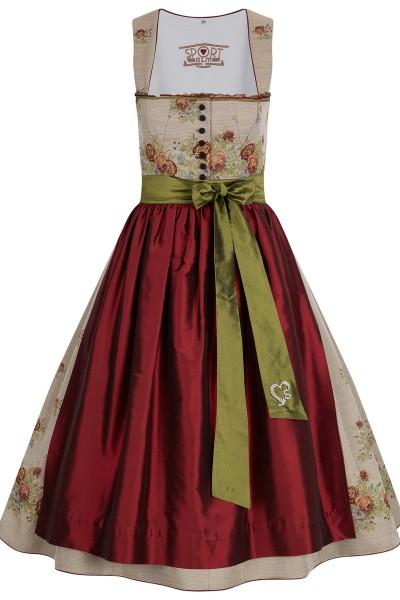 Dirndl with brocade rose motif
