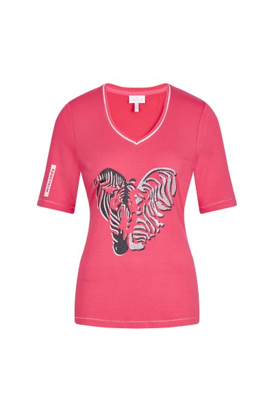 Shirt mit plakativem Zebraprint