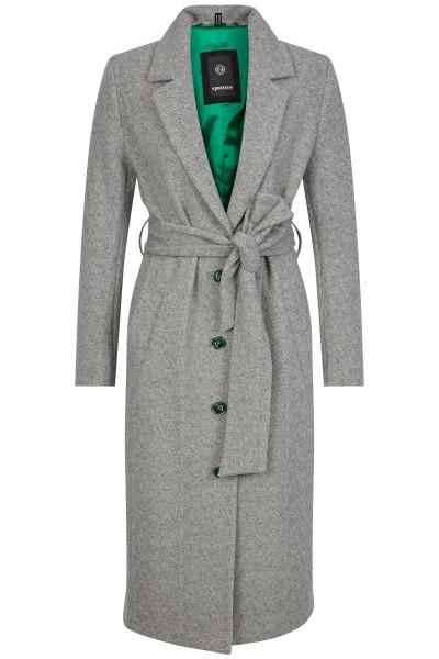 Shawl coat with belt