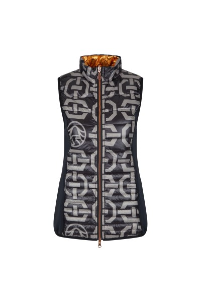 Quilted vest with reversible function