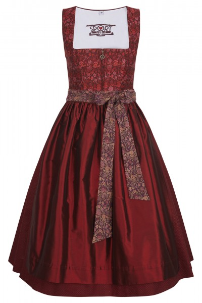Dirndl with beautiful flower brocade print