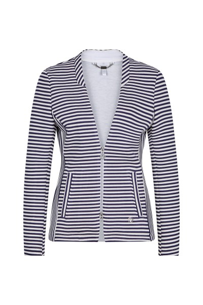 Jacket in maritime striped look