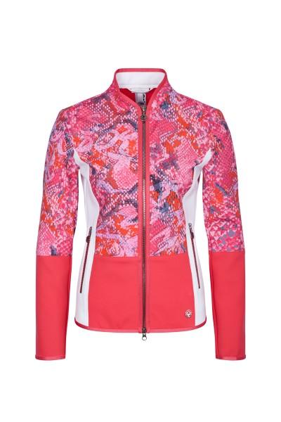 Jacke mit Print und Colourblock-Design