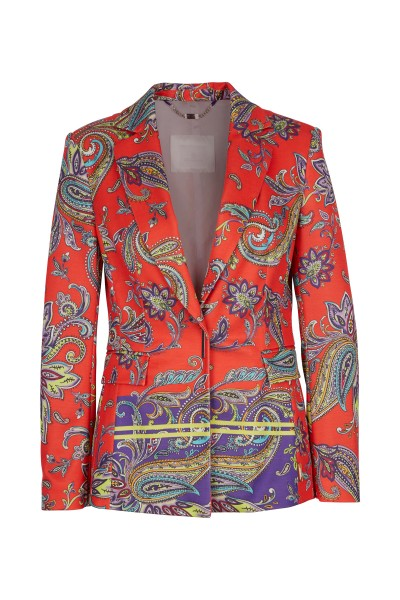 Blazer in all-over paisley print