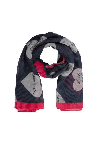 Noble scarf in all-over heart print