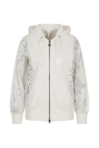Feminine sweat jacket with hood