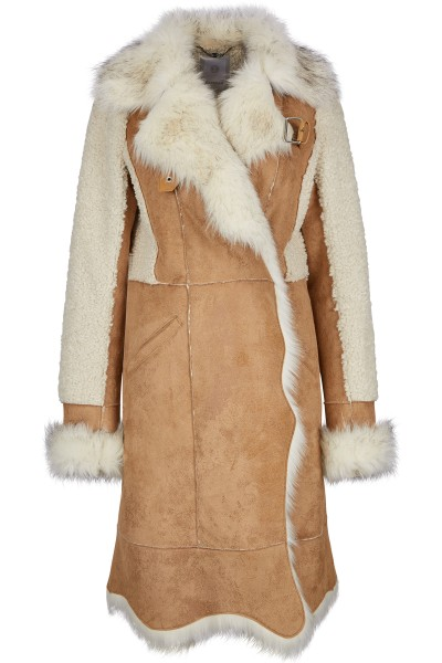High quality woven fur coat
