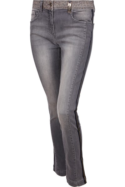 Five-pocket-look jeans with side stripes