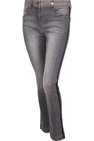Jeans im Five-Pocket-Look mit seitlichen Streifen