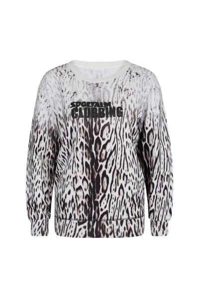 Bedruckter Sweater aus supersofter Ware mit Schulterpolstern