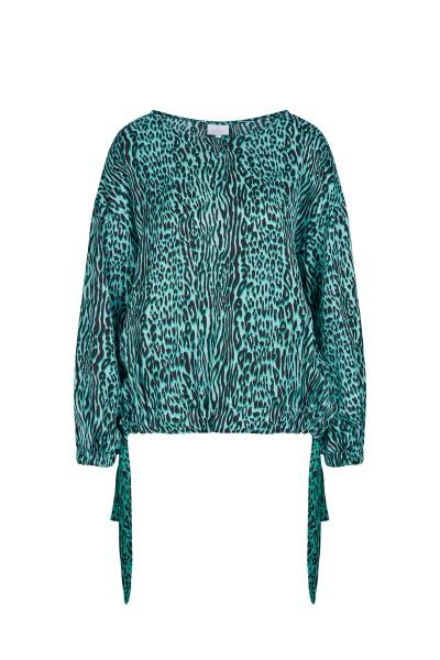 Weite, locker geschnittene Bluse im Allover-Print