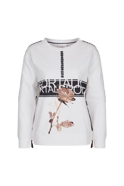 Sweater mit Transfer-Motiv