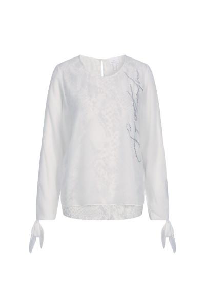 Snake print chiffon blouse