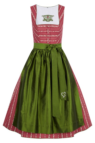 Dirndl with roses floral embroidery