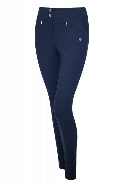 Narrow cut stretch pants