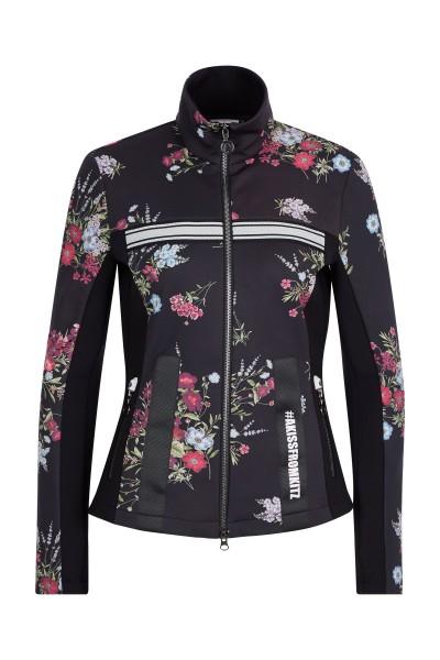 Fleece jacket in flower print