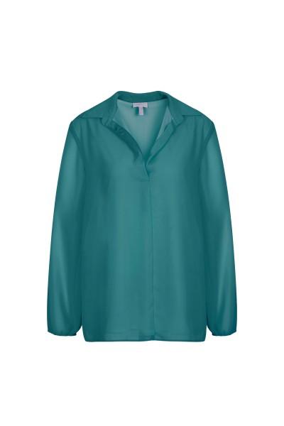 Lockere, elegante Tunika mit lässigem Hemdkragen