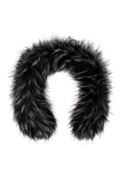 Black and white fake fur trimming