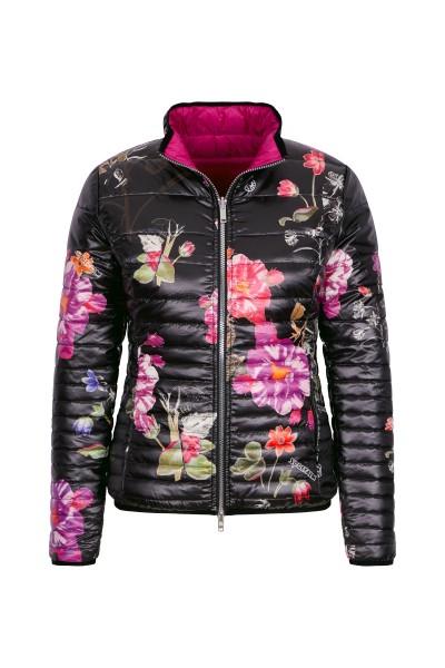 Sportive Jacke im Blumendruck