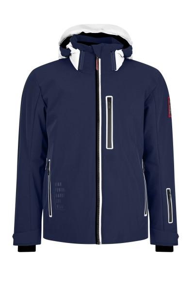 Super sporty ski jacket in fabric mix