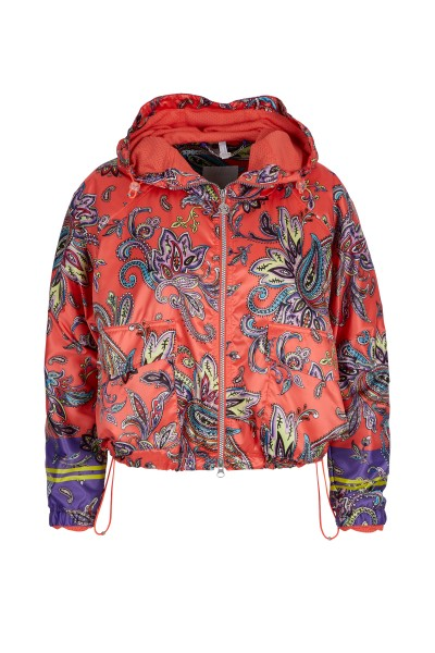 Sporty bomber jacket in paisley print