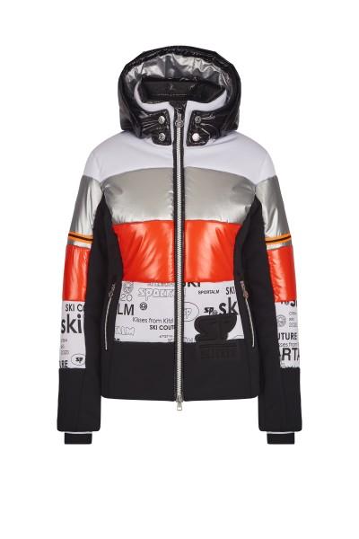 Down jacket in block design