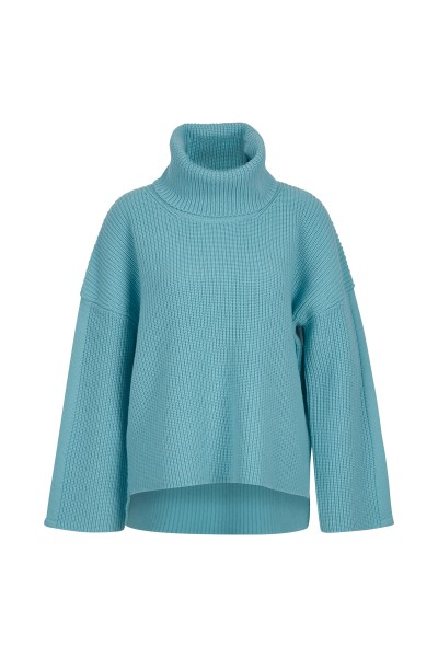 Pearl turtleneck sweater with overcut sleeves