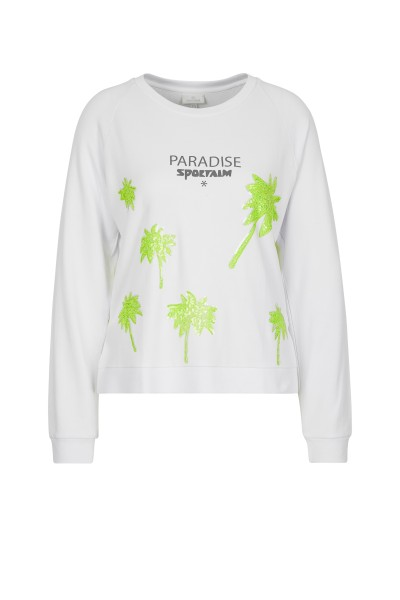 Sporty jumper with sequin detail