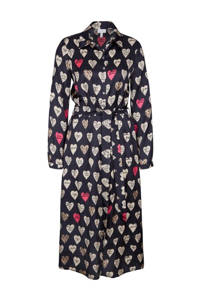 Magical dress with an all-over heart print