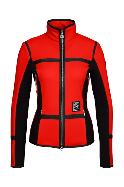 Fleec jacket with side inserts